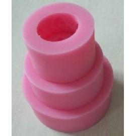 Molde silicone Pastel de 3 capas