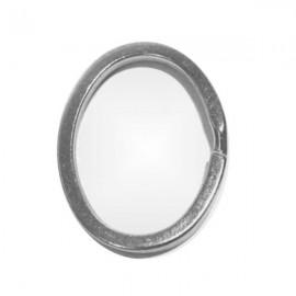Argolla para llavero con forma de Ovalo, plateado