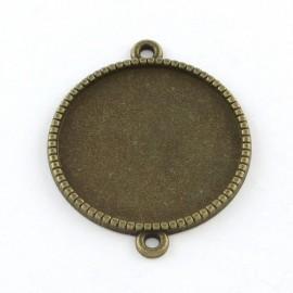 Uniones con base para de camafeo de metal, color bronce