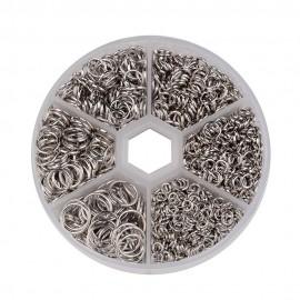 Argollas color platinum en tamaños variados
