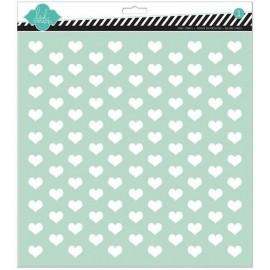 Estencil Hearts de Heydi Swapp