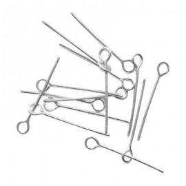 Pines con ojo de hierro plateado de 7 cms