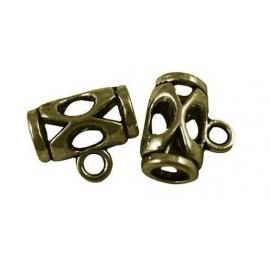 Paquete con 10 Colgantes en metal bronce antiguo