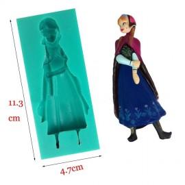 Molde de Silicone de Anna de Frozen,