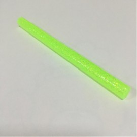 Paquete de 10 barras Verde Flourecente de silicone caliente con escarcha