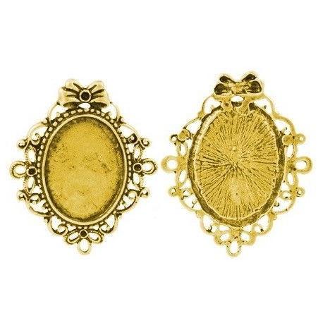 Bases para camafeo en color oro antiguo