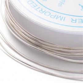 Rollo de alambre cobre plateado de 0,8mm