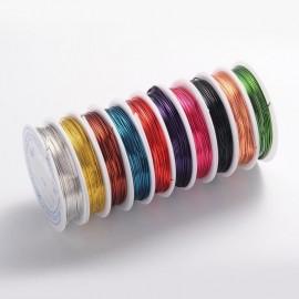 Alambre de cobre de 0,8 mm en colores variados