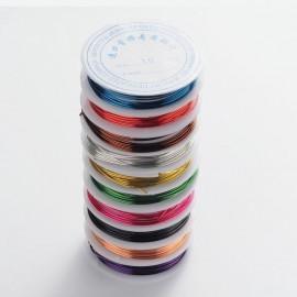 Alambre de cobre de 1 mm en colores variados