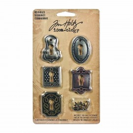 Keyholes with Long Fasteners by Tim Holtz Idea-ology