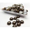 Medias perlas en color café oscuro 4 mm