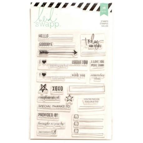 "Sellos acrilico ""Diary"" de Heidi Swapp"