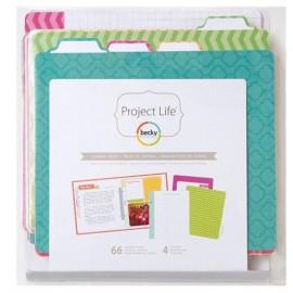 "Paquete ""Weekly Planner"" de Project Life. Tamaño 6x8"""