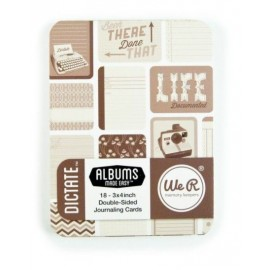 "Journal Card ""Dictate"" de We R Memory. Tamaño 3X4"""