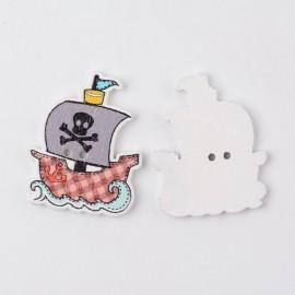 Botones de Barco Pirata de colores