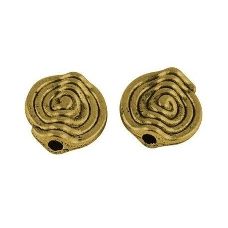 Separadores circular estilo tibetano, color oro antiguo