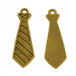 Dijes de corbata en color dorado