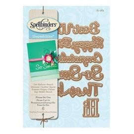 Troquel metalico de frases marca Spellbinders