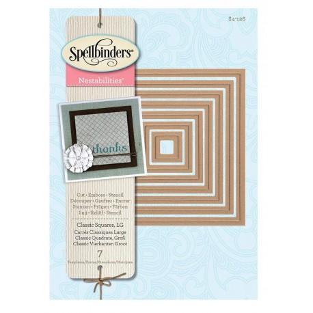 Troquel Clasic Squares LG de Spellbinders