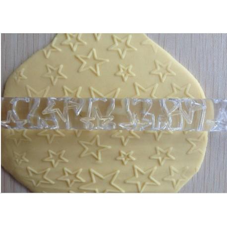 Rodillo acrilico Estrellas para dar textura a la pasta