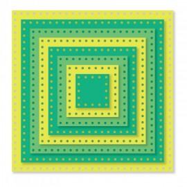 Troquel Metálico de Cuadrados con bordes de puntos de Sizzix
