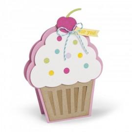 Troquel Metálico Tarjeta de Cupcake de Sizzix
