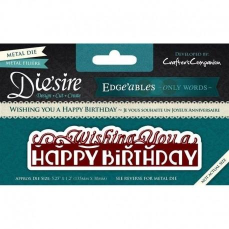 "Troquel Metálico ""Wishing you a Happy Birthday"" de Die´Sire"