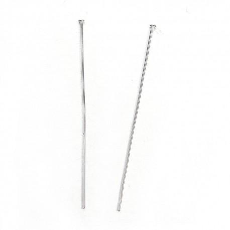 Paquete con 20 gms de pines en acero inoxidable 304, 50 mm de largo