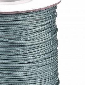 Rollo de Cordon de Poliester Encerado Color Gray, 1mm
