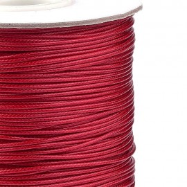 Rollo de Cordon de Poliester Encerado Color FireBrick, 1mm