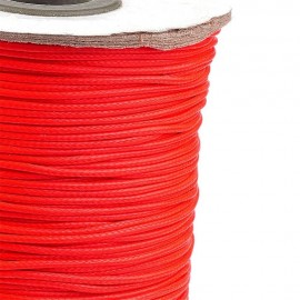 Rollo de Cordon de Poliester Encerado Color OrangeRed, 1mm