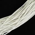 Rollo de Cordon Trenzado imitación cuero Color White