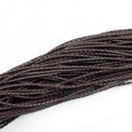Rollo de Cordon Trenzado imitación cuero Color Black