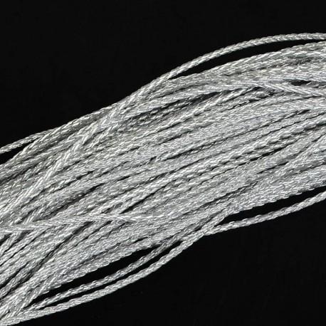 Rollo de Cordon Trenzado imitación cuero Color Gainsboro