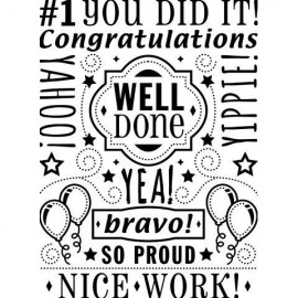 "Folder embosador ""Congratulations Word Collage Background"