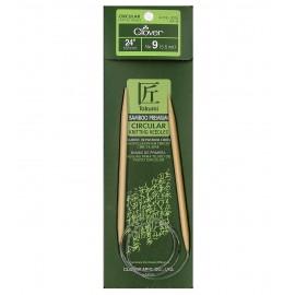 Aguja Circular de bambo 9, de 61 cms de largo de Clover.