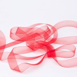 Cinta de Organza Roja de 12 mm