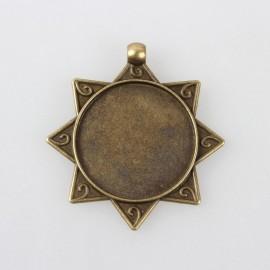 Camafeo de Estrella color bronce antiguo