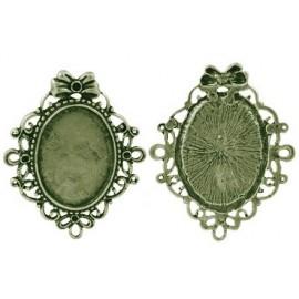 Camafeo de Ovalo Vintage color bronce antiguo