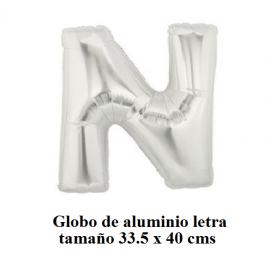 "Globo de Aluminio letra ""N"""