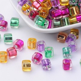 Cubos de acrilico en colores variados