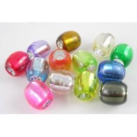 Barriles de acrilico en colores variados