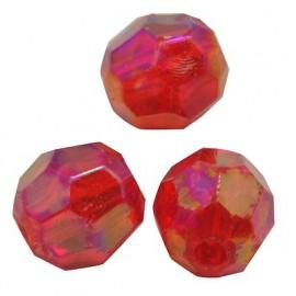 Cristales en color rojo, 6 mm
