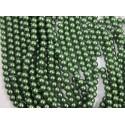 Perlas de vidrio color Verde Esmeralda de 4mm