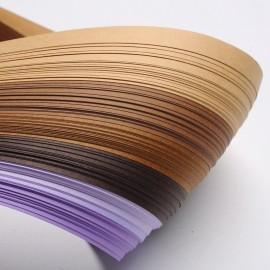 Papel para filigrana en tonos cafes y morados e 3 mm