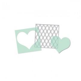 """Estencil Set Heart de Heydi Swapp, tamaño 5,5x5,5"""""""