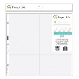 """Sobres con divisiones variadas de Project Life. Tamaño 12x12"""""""