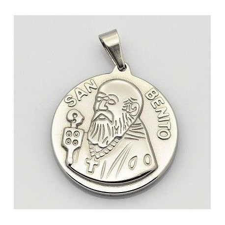 Dije de Medalla de San Benito Dorado