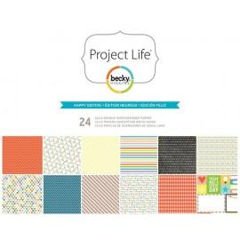 """Cartulinas Happy Edition de Project Life. Tamaño 12x12"""""""