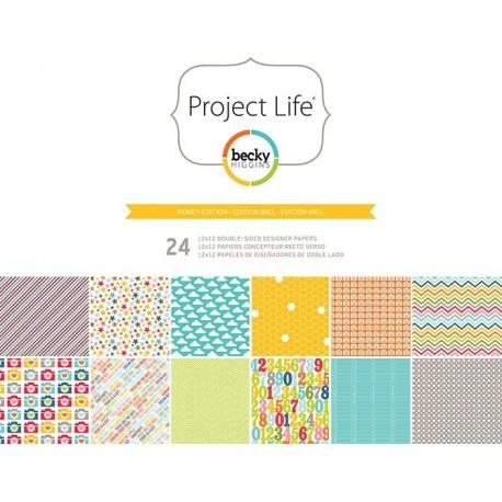 "Cartulinas Honey Edition de Project Life. Tamaño 12x12"""